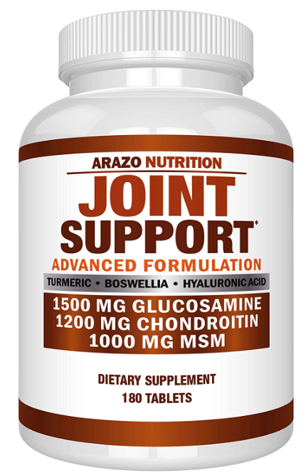 Joint Support Glucosamine and Chondroitin supplement by Arazo Nutrition